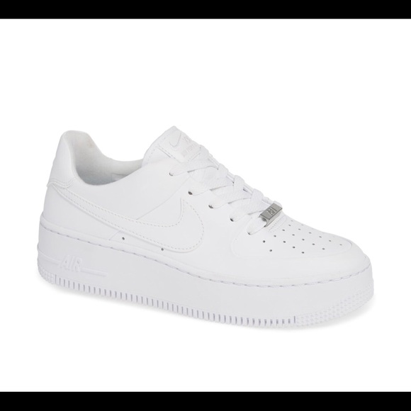 708c50708 Nike Shoes | Air Force 1 Sage Xx Low All White 65 Womens | Poshmark